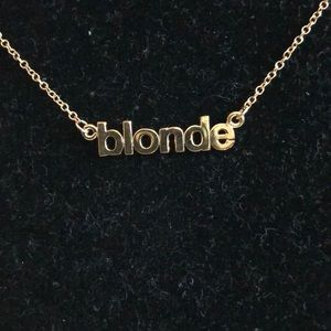 Blonde Necklace